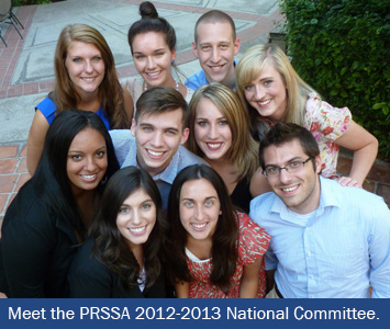 Attended the PRSSA 2012 National Assembly with the new National Committee in June.