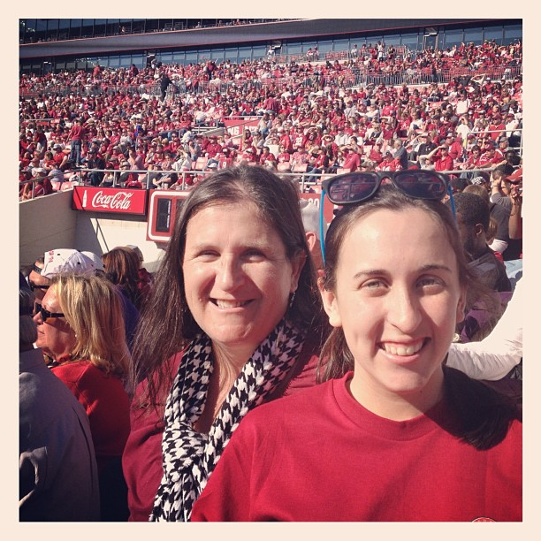 Attended a University of Alabama football game with my mother in November.