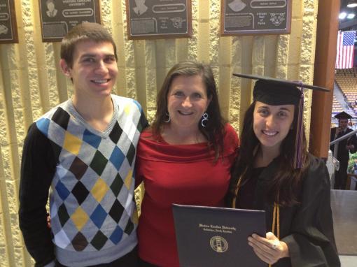 Graduated from Western Carolina University in December.