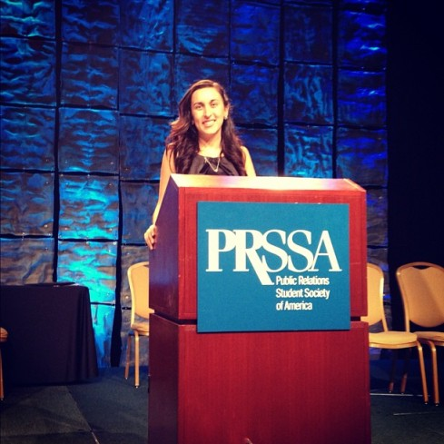 Attended the PRSSA 2012 National Conference in San Fran in October.