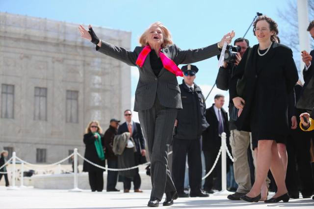 Edith Windsor after her victory via Getty Images
